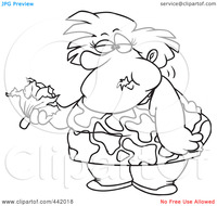 free fat woman pics royalty free clip art illustration cartoon black white outline design fat woman eating head lettuce portfolio toonaday