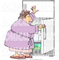 free fat woman pics comical clip art fat woman scrounging fridge something eat dennis cox designs