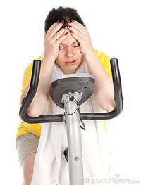 free fat woman pics tired fat woman fitness bicycle royalty free stock photos