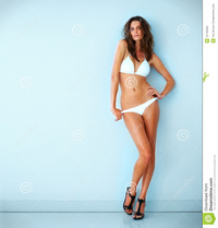 free hot bikinis hot young female model posing bikini royalty free stock photos