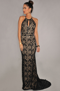 free nude black pictures wsphoto stock size black lace nude illusion open back evening gown dress item