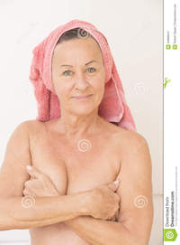 free photos of naked matures naked mature woman hands breasts portrait happy beautiful towel head covering relaxed friendly smiling royalty free stock joyful