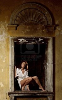 free pictures of sexy older women sergio ksv sexy woman posing window old ruined house photo