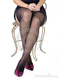 free pictures of women in nylons black minidress pink high heels royalty free stock photo