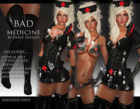 free sexy nurses assets lightbox bad medicine black fierce designs nurses uniformpromo bonus free store card