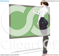 free teacher sexy royalty free clipart illustration sexy pinup female teacher wearing tight clothes writing chalk board portfolio rformidable