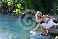 girl squirting photos girl squirting water lake royalty free stock