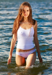 girls in wet undies depositphotos summer girl stock photo