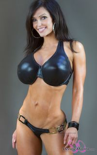 girls with huge melons sexies getsexy denise milani huge melons fitchick