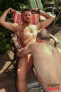 hairy porn pics hairy raw christian matthews alex powers daddy bears barebacking outside amateur gay porn barebacks his younger friend backyard