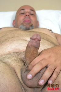 hairy porn pictures hairy raw joe strong chubby guy masturbating jerk off amateur gay porn waking from nap jerks his thick cock