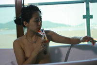 hairy puss pictures naked korean girl hairy pussy drinks juice bath