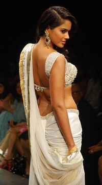 hot ass picks sameera reddy hot blouse back still ass saree bhoomika pics pose