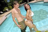 hot black pussy porn pic black pussy poolside fucking