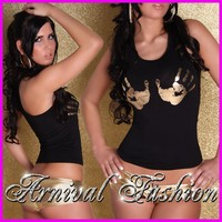 hot black sexy chicks imgdata webimg itm sexy ladies tank singlet size womens hot clubwear black shirt