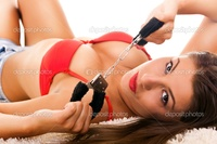 hot brunette pics depositphotos hot brunette handcuffs stock photo
