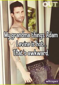 hot grandma pics whisper grandma things adam levine hotthats awkward