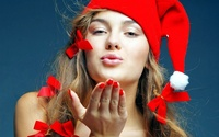 hot pic sexy girl plog christmas santa girl wallpapers