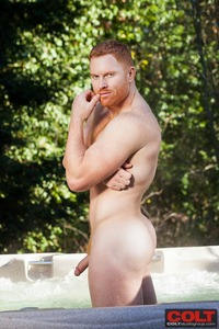 hot porn redhead seth fornea naked showing his hot redhead dick gay porn colt studio group nude