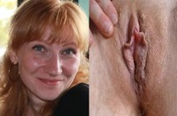 hot red head nude natural redhead wife flashing hot bushy pussy