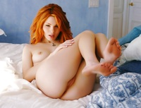 hot redhead pussy pic naughty redhead spreading legs
