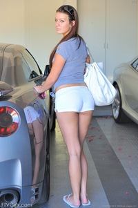 hot sexy ass gallery hot girl nice ass tight shorts from behind photo