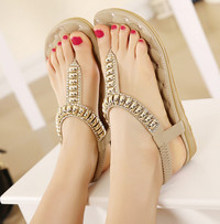 hot sexy feet photo htb hpxxxxa xvxxq xxfxxx item free shipping quality flat sandals metal fashion girls ladies sexy beach female shoes hot sale eur