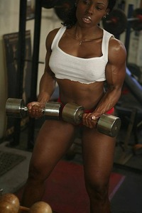 hot young black women muscle arm female