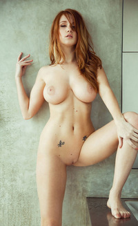 hottest redhead babes hot redhead babe boobs shaved tattoo wet bath sexy