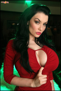 huge boob picture galleries pinup dahliadark premium dahlia dark huge boobs explode out tight red sweater