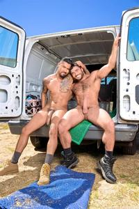 huge dick only raging stallion boomer banks mike dozer huge uncut cock fucking hitchhiker amateur gay porn