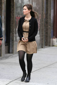 images pantyhose photos olivia wilde black pantyhose tights boots beige buttoned dress cardigan