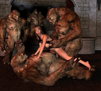 monster 3d sex pics crazy naked chick having monster four goblins