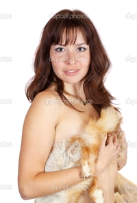 naked girl pics and pics depositphotos naked girl covered fox fur stock photo