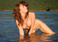 naked red haired pussy pics naked redhead afternoon sun kneeling water