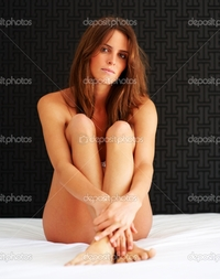 naked woman pics depositphotos sexy young naked woman sitting bed stock photo