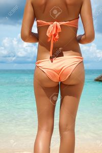 nice girl bums tommyandone sexy back beach boracay philippines stock photo bikini girl