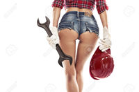 nice sexy ass pic pjphotography nice sexy woman mechanic showing bum buttock holding wrench isolated over white background stock photo ass work