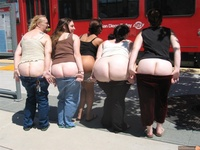 nude butt women wallpapers five women flashing butts public