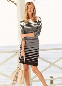 photo of mature women grey stripe knit dress frsp fabulous fashion help wear dresses mature women