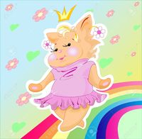 pics of little pussy geshanya little pussy cat plump princess dancing along rainbow stock vector photo