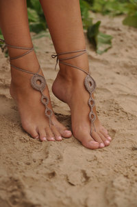 pics of sexy feet fullxfull listing crochet tan barefoot sandals brown nude