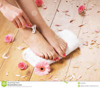 pics of sexy feet sexy feet young woman shaving procedure taken background flowers towel royalty free stock