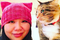 picture of a female pussy fashion daily pussy hat project women are knitting pink hats protest trump