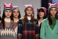picture of a female pussy fashion daily missoni pussyhat grabs back knitted pink pussy hats milan