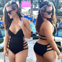 pictures of chubby women naked itm women sexy chubby cut out bandage monokini push padded bra swimsuit swimwear