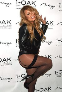 pictures of sexy stockings nintchdbpict tvandshowbiz wheres rest mariah carey steps out sexy stockings suspenders but forgets put skirt