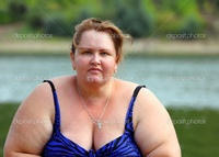 plump woman pics depositphotos plump woman sitting near river stock photo