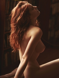 porn fanny pictures fanny francois nude naked redhead model red head models fire down