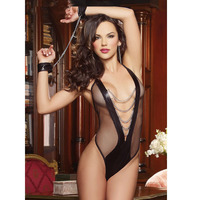 porno lingerie htb xxfxxxi black faux leather jumpsuit mesh transparent sexy lingerie set porno women costumes bodystocking handcuffs item toys erotic